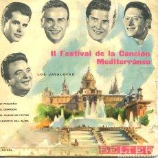 Discos de vinilo: LOS JAVALOYAS / MI PEQUEÑA + 3 (II FESTIVAL DEL MEDITERRANEO) EP 1960. Lote 178934320