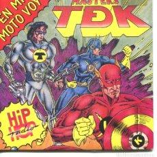 Discos de vinilo: MASTERS TDK (GRUPO ESPAÑOL) EN MI MOTO VOY ( 2 VERSIONES) SINGLE 1990. Lote 178937442