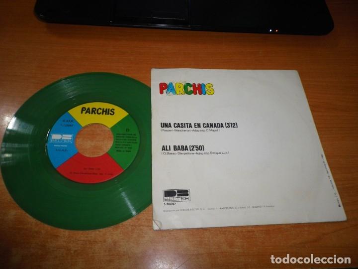 Discos de vinilo: PARCHIS Una casita en Canada / Al Alba SINGLE VINILO 1980 TINO FERNANDEZ VINILO VERDE 2 TEMAS - Foto 2 - 178937972