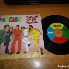 Discos de vinilo: PARCHIS TWIST DEL COLEGIO / RATATATA SINGLE VINILO 1980 TINO FERNANDEZ 2 TEMAS JUAN PARDO. Lote 178939561