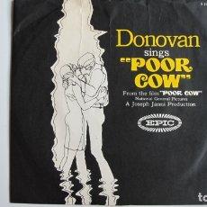 Discos de vinilo: DONOVAN / POOR COW -SINGLE EPIC-. Lote 178945232
