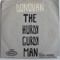 Discos de vinilo: DONOVAN SINGLEG DONOVAN : THE HURDY GURDY MAN -EDITADO EN 1968-. Lote 178945557