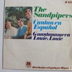 Discos de vinilo: THE SANDPIPERS-SINGLE GUANTANAMERA. Lote 178945986