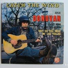 Discos de vinilo: DONOVAN CATCH THE WIND - SINGLE PYE - FRANCIA . Lote 178946512