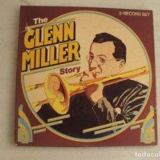 Discos de vinilo: THE GLENN MILLER STORY. CAJA CON TRES LPS. EDICION ALEMANA 1984 ASTAN MUSIC.. Lote 178959410