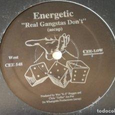 Discos de vinilo: ENERGETIC - REAL GANGSTAS DON'T / SO TEST ME - 1996. Lote 178960285