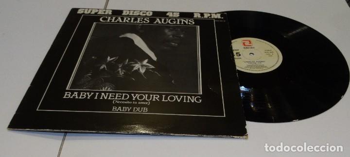 CHARLES AUGINS MAXI SINGLE 1984 BABY I NETED YOUR LOVING (Música - Discos de Vinilo - Maxi Singles - Jazz, Jazz-Rock, Blues y R&B)