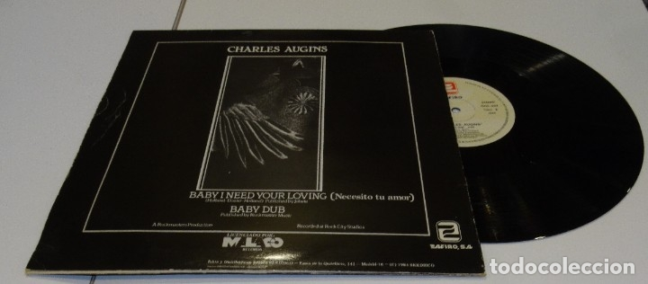 Discos de vinilo: CHARLES AUGINS MAXI SINGLE 1984 BABY I NETED YOUR LOVING - Foto 2 - 178962016