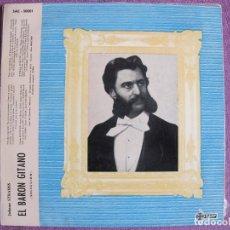 Discos de vinilo: 10 PULGADAS - JOHANN STRAUSS - EL BARON GITANO (SPAIN, DISCOS SAEF 1961). Lote 178962327