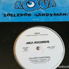 Discos de vinilo: AQUA - LOLLIPOP (CANDYMAN) - 1997. Lote 178962976