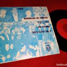 Discos de vinilo: ANTONIO LATORRE MAMBOLINO DEL SIMPLON/ADELINA/VEN PALOMA/TRISTE ESTOY SIN TI 7''EP 1972 BERTA PROMO. Lote 178976396