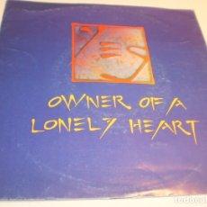 Discos de vinilo: SINGLE YES. OWNER OF A LONELY HEART. WARNER 1991 UK (PROBADO Y BIEN, BUEN ESTADO). Lote 178976442