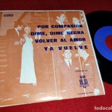 Discos de vinilo: ANTONIO LATORRE POR COMPASION/DIME,DIME NEGRA/VOLVER AL AMOR/YA VUELVE 7''EP 1971 BCD PROMO. Lote 178976525