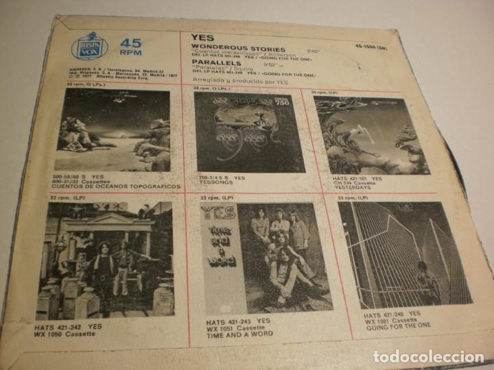Discos de vinilo: single yes. wonderous stories. parallels atlantic 1978 spain (probado y bien, buen estado) - Foto 2 - 178976648