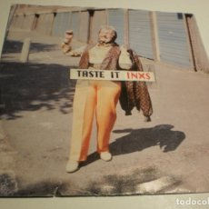 Discos de vinilo: SINGLE INXS. TASTE IT. LIGHT THE PLANET MERCURY 1992 GERMANY.(PROBADO Y BIEN). Lote 178984293