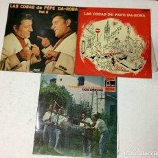 Discos de vinilo: 3 LP DE VINILO DE HUMOR. 70'S. PEPE DA ROSA Y LOS CHIQUIS. BUEN ESTADO. Lote 178984677