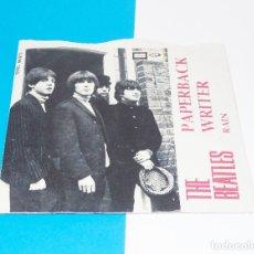 Discos de vinilo: THE BEATLES -----PAPERBACK WRITER & RAIN ----EDICION ESPAÑOLA AÑO 1966 ***COL***. Lote 178989341