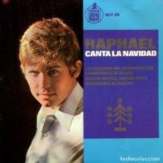 Discos de vinilo: RAPHAEL (CANTA LA NAVIDAD) / LA CANCION DEL TAMBORILERO + 3 (EP 1965). Lote 178995027