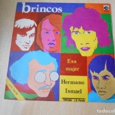 Discos de vinil: BRINCOS, LOS, SG, ESA MUJER + 1, AÑO 1970. Lote 178995495