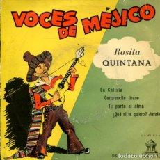 Discos de vinilo: ROSITA QUINTANA / LA CALIXTA / TE PARTO EL ALMA + 2 (EP 1959). Lote 178995706