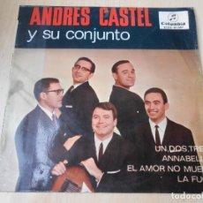 Discos de vinilo: ANDRES CASTEL Y SU CONJUNTO, EP, UN, DOS, TRES + 3, AÑO 1965. Lote 178996372