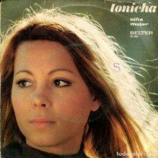 Discos de vinilo: TONICHA / NIÑA / MUJER (FESTIVAL DE EUROVISION PORTUGAL) SINGLE ESPAÑOL 1971. Lote 178996382