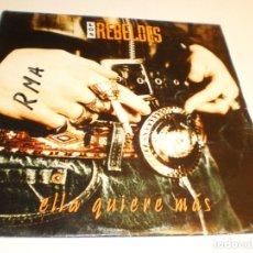 Discos de vinilo: SINGLE LOS REBELDES ELLA QUIERE MÁS EPIC 1993 PROMO (PROBADO Y BIEN). Lote 178999471
