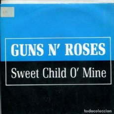 Discos de vinilo: GUNS N' ROSES / SWEET CHILD O' MINE (SINGLE PROMO 1988). Lote 178999476
