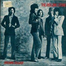 Discos de vinilo: THE ROLLING STONES / BROWN SUGAR / BITCH (SINGLE PROMO 1984). Lote 179000135