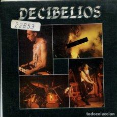 Discos de vinilo: DECIBELIOS / NINGUN NOMBRE DE MUJER / CANCION DE CUNA (SINGLE 1985) LABEL BLANCO. Lote 179000612