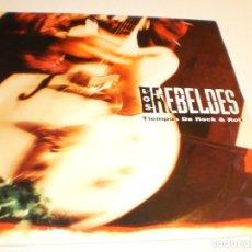 Discos de vinilo: SINGLE LOS REBELDES. TIEMPOS DE ROCK & ROLL EPIC 1992 PROMO (PROBADO Y BIEN, SEMINUEVO). Lote 179000708