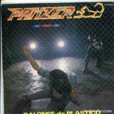 Discos de vinilo: PANZER (HEAVY METAL) / GALONES DE PLASTICO / SUBE UN ESCALON (SINGLE PROMO 1983). Lote 179000900