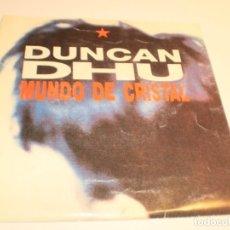 Discos de vinilo: DUNCAN DHU. MUNDO DE CRISTAL GRABAC. ACCIDENTALES 1991 CARPETA DOBLE (PROBADO Y BIEN, SEMINUEVO). Lote 179001283