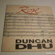 Discos de vinilo: SINGLE DUNCAN DHU ROSE. GRABAC ACCIDENTALES 1992 (PROBADO Y BIEN). Lote 179003906