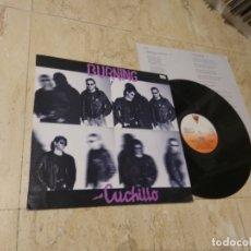 Discos de vinilo: BURNING. CUCHILLO. VICTORIA E-30.1258 LP 1987 CONTIENE INSERT. Lote 179004525