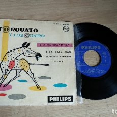 Discos de vinilo: EP-TORQUATO Y LOS CUATRO-1961-SPAIN-. Lote 179006368
