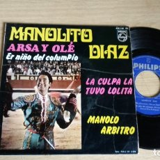 Discos de vinilo: EP-MANOLITO DIAZ-1968-SPAIN-. Lote 179007920
