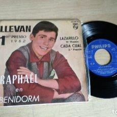 Discos de vinilo: EP-RAPHAEL-1962-SPAIN-. Lote 179009223