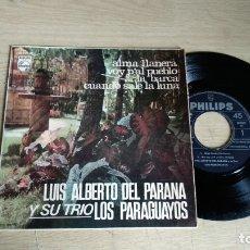 Discos de vinilo: EP-LUIS ALBERTO DEL PARANA Y SU TRIO LOS PARAGUAYOS-1966-SPAIN-. Lote 179009573