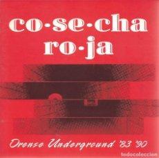 Discos de vinilo: COSECHA ROJA, ORENSE UNDERGROUNS '83 '90 (PEGGY RCDS.1990) FLEXI-GATEFOLD,BOOKLET. Lote 179012458