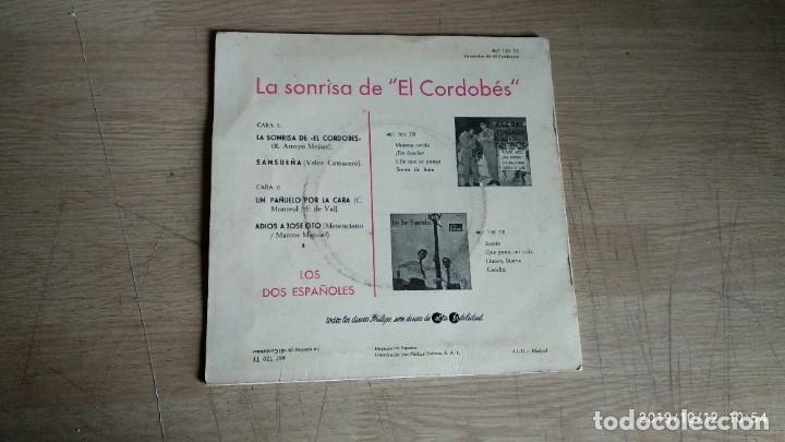 Discos de vinilo: EP-LOS DOS ESPAÑOLES-1962-SPAIN- - Foto 2 - 217533106