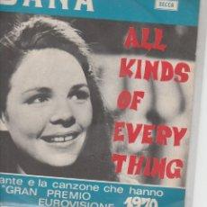 Disques de vinyle: DANA ALL KINDS OF EVERY THING LA CANTANTE E LA CANZONE CHE HANNO VINTO IL GRAN PREMIO EURO1970 IT. Lote 179017453