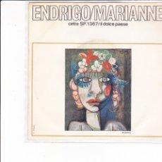 Discos de vinilo: ENDRIGO MARIANNE IL DOLCE PAESE FESTIVAL EUROPEO DELLA CANZONE 1968 EUROFESTIVAL ITALY. Lote 179017761