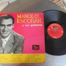 Discos de vinilo: MANOLO ESCOBAR-LP MANOLO ESCOBAR Y SUS GUITARRAS-VENEZUELA. Lote 179020027