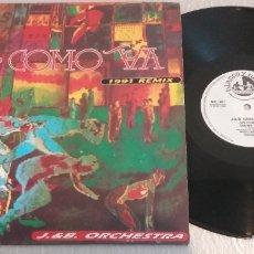 Discos de vinilo: J. & B. ORCHESTRA / OYE COMO VA 1991 REMIX / BLANCO Y NEGRO MUSIC / MAXI-SINGLE 12 INCH. Lote 179020783