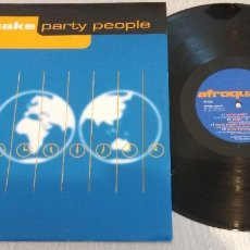 Discos de vinilo: AFROQUAKE / PARTY PEOPLE / MAXI-SINGLE 12 INCH. Lote 179021256