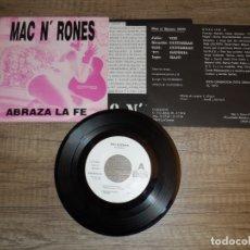 Discos de vinilo: MAC N' RONES - ABRAZA LA FE. Lote 179021575
