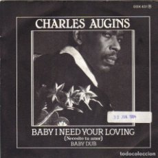 Discos de vinilo: CHARLES AUGINS - BABY I NEED YOUR LOVING + BABY DUB SINGLE SPAIN 1983. Lote 179034693
