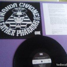 Discos de vinilo: FANTASTICO LP. ORIGINAL PUNK. WANDA CHROME AND THE LEATHER PHARAOHS.ELEVEN THE HARD WAY..SPLUN 12. Lote 179040448