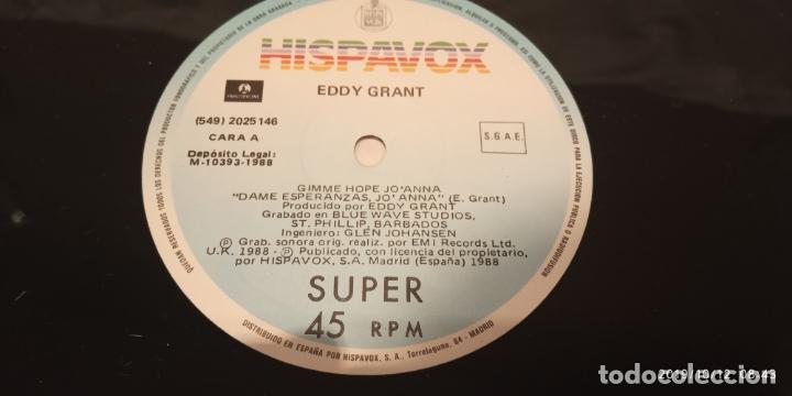 Discos de vinilo: EDDY GRANT -GIMME HOP JO'ANNA- (1988) MAXI-SINGLE - Foto 3 - 179043867